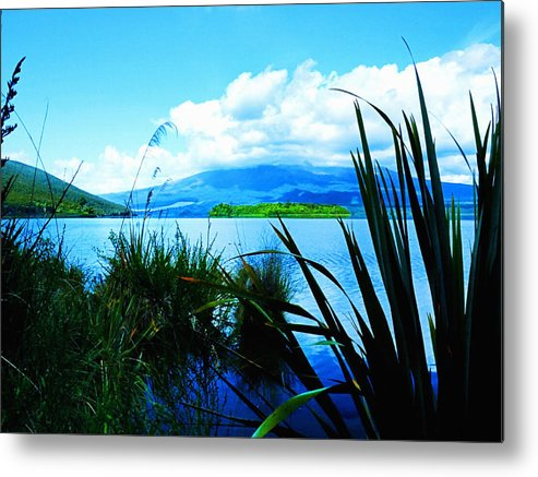 Aerial View Metal Print featuring the digital art Tongariro National Park Oil On Canvas by Don Kuing
