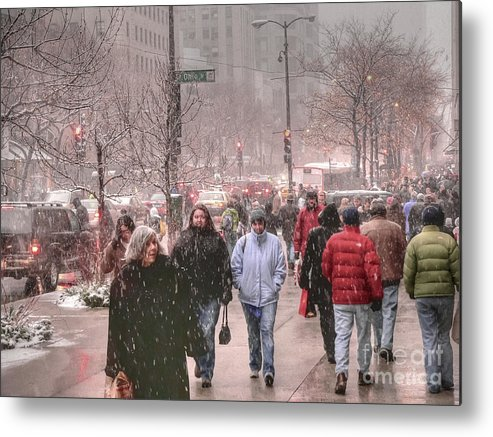 Hdr Metal Print featuring the photograph Too Soon The Snow by David Bearden