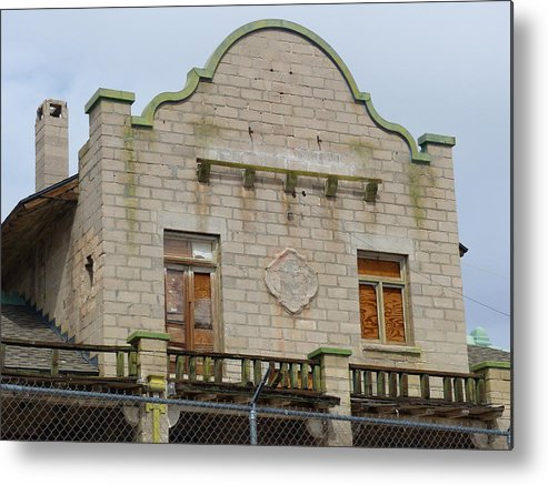 Train Depot Metal Print featuring the photograph Top Of The Rhyolite Train Depot by Carole Neat