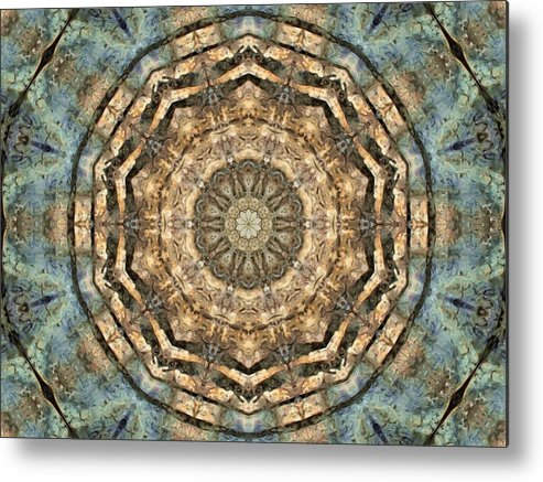 Abstract Metal Print featuring the digital art Touched By Light by Tom Druin