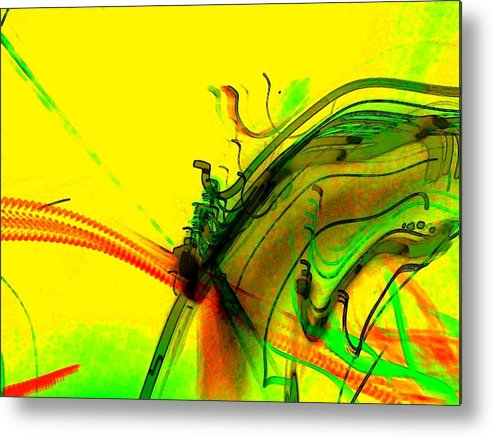 Tracings Metal Print featuring the digital art Tracings by D Preble