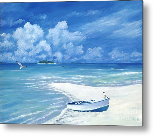Seascape Metal Print featuring the painting Treasure Cay by Danielle Perry