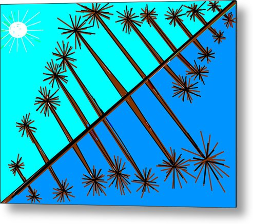 Trees And Reflections Metal Print featuring the digital art Trees And Reflections by Anand Swaroop Manchiraju
