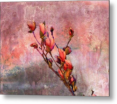 J Larry Walker Metal Print featuring the digital art Tulip Tree Budding by J Larry Walker
