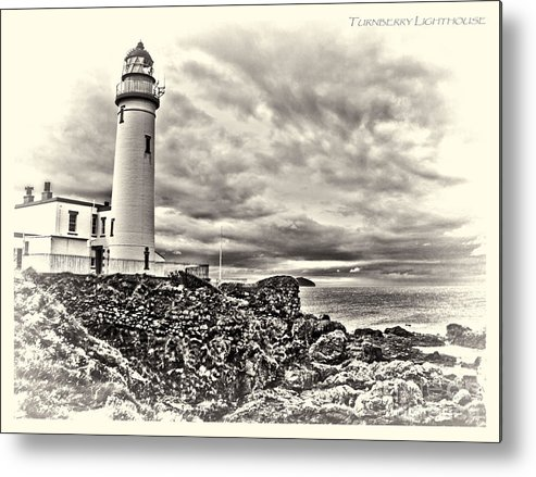 Turnberry Lighthouse Ayrshire Scotland Metal Print featuring the photograph Turnberry Lighthouse by Paul Martin