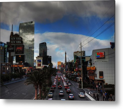 Las Vegas Metal Print featuring the photograph Vegas Strip 002 by Lance Vaughn