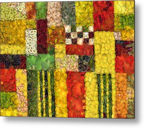 Vegetables Metal Print featuring the digital art Vegetable Abstract by Michelle Calkins