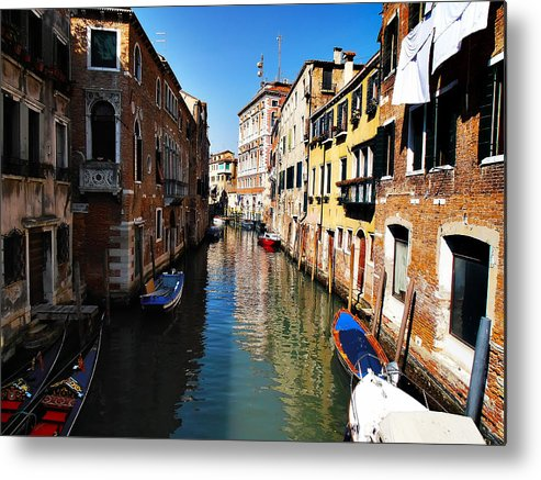 Venice Metal Print featuring the photograph Venice Canal by Bill Cannon