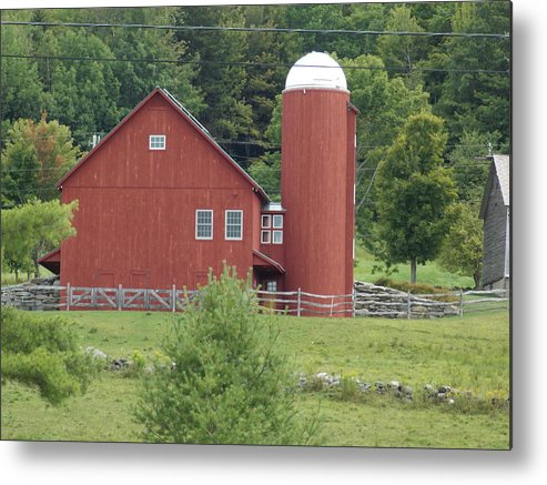 Vermont Metal Print featuring the photograph Vermont Farm by Catherine Gagne