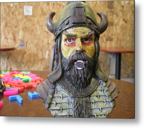 Viking Metal Print featuring the photograph Viking 06 - Little Mouth - Animation Project by David Lovins