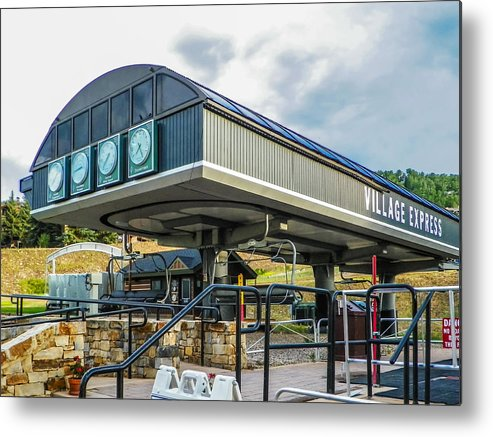 Metal Print featuring the photograph Village Express by IvyWell Digital Imagery