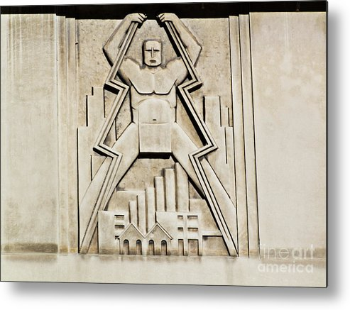 Art Metal Print featuring the photograph Vintage Art Deco Muscular Man  by Linda Matlow
