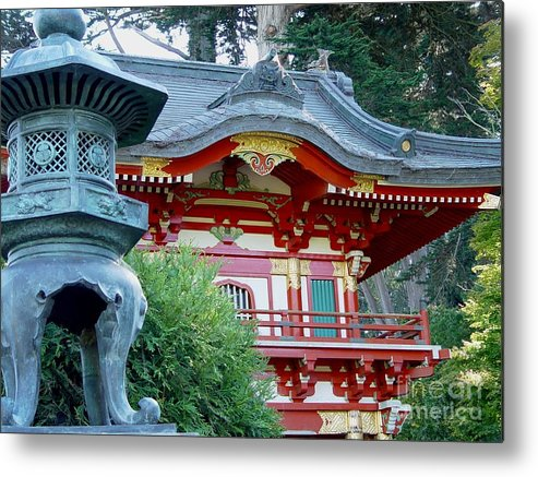 Japanese Tea Garden Metal Print featuring the photograph Visions Of Japan by Nancy Bradley
