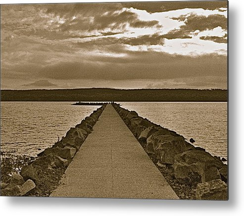 Water Metal Print featuring the photograph Walking On Water by Brian Shipman