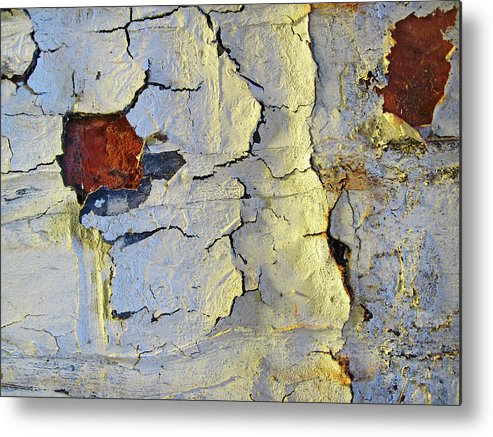 Wall Metal Print featuring the photograph Wall Abstract 4 by Mary Bedy