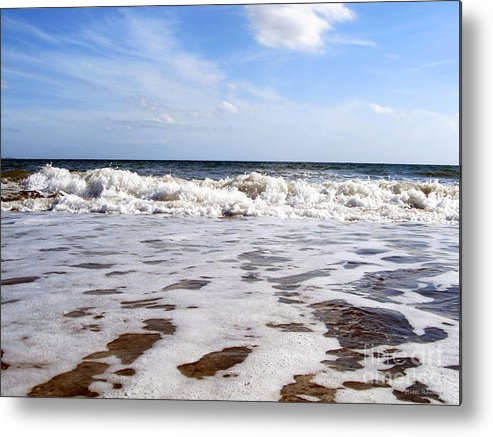 Waves Metal Print featuring the photograph Waves by Ramona Matei