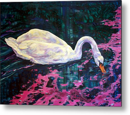 Bird Metal Print featuring the painting Where Lilac Fall by Derrick Higgins