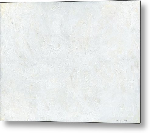 White Metal Print featuring the painting White Color Of Energy by Ania Milo
