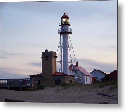 Michigan Metal Print featuring the photograph White Fish Point Lighthouse by Jennifer King