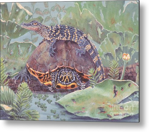 Nature Metal Print featuring the painting Why Me by Sandra Williams