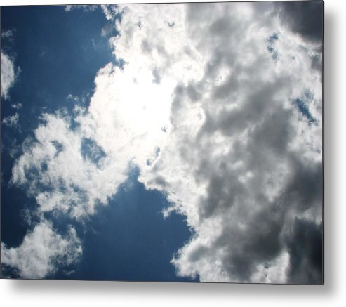 Kyel Reny Metal Print featuring the photograph Wicker Clouds by Kyel Reny