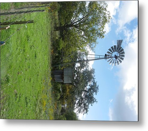 Metal Print featuring the photograph Wind Mill by Kit Meitinger