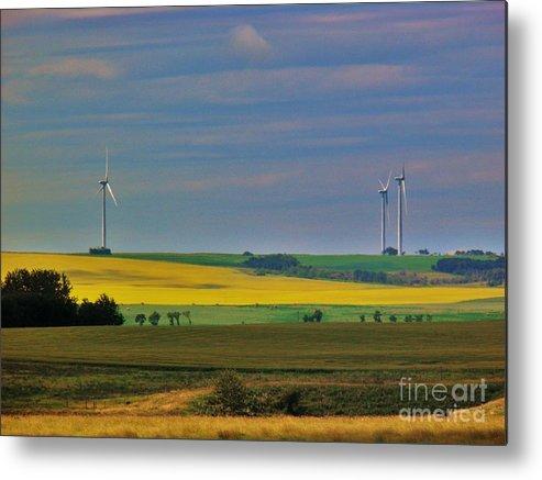Windmills Metal Print featuring the photograph Windmills by Sharleen Adam