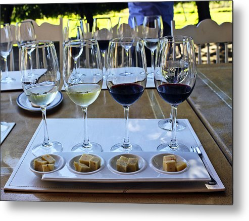 Wine Metal Print featuring the photograph Wine And Cheese Tasting by Kurt Van Wagner