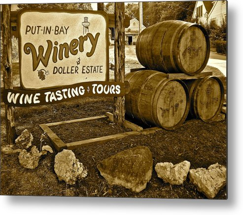 Wine Metal Print featuring the photograph Wine Is Fine by Frozen in Time Fine Art Photography