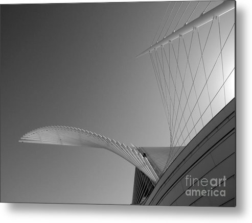 Milwaukee Art Museum Metal Print featuring the photograph Winged Warrior by David Bearden