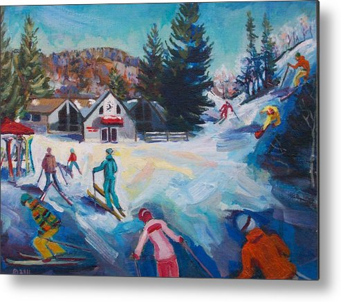 Butternut Ski Resort Metal Print featuring the painting Wintertime Fun by Margaret Buchte