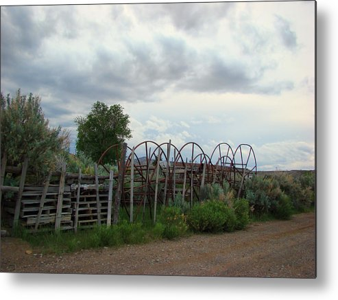 Metal Print featuring the photograph Wyoming Backroads 2 by Cathy Anderson