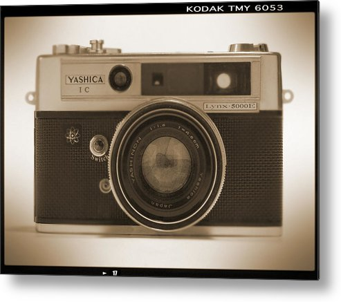 Classic Film Camera Metal Print featuring the photograph Yashica Lynx 5000e 35mm Camera by Mike McGlothlen