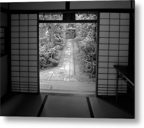 Japan Metal Print featuring the photograph Zen Garden Walkway by Daniel Hagerman