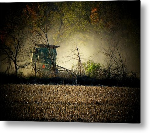 Soy Beans Metal Print featuring the photograph Mean Bean Machine by Michael L Kimble