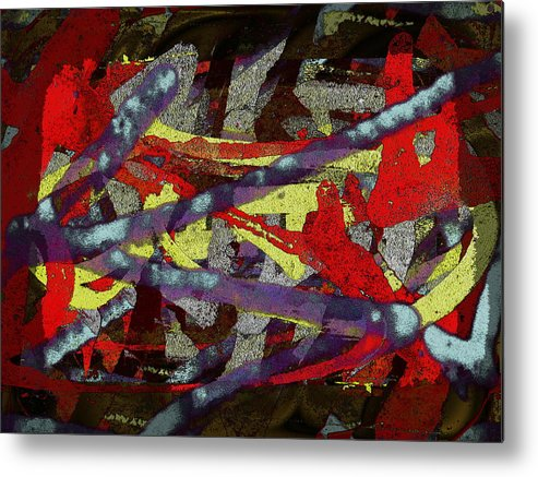 Abstract Metal Print featuring the digital art The Writing On The Wall 1 by Tim Allen
