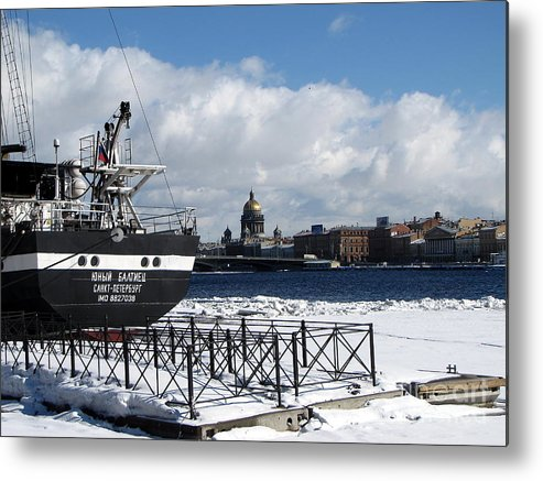 City Metal Print featuring the photograph Winter Peterburg1 by Yury Bashkin