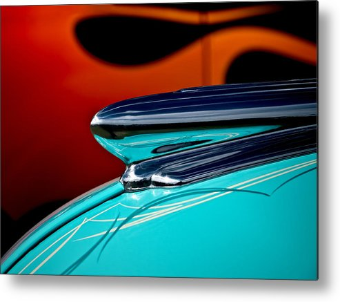 1948 Chevy Metal Print featuring the photograph 1948 Chevy Hood Ornament by Douglas Pittman