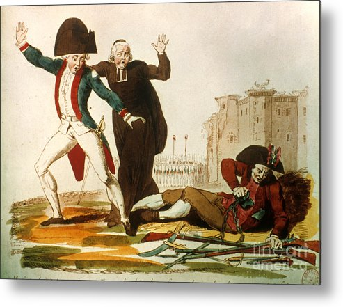 1792 Metal Print featuring the photograph French Revolution, 1792 by Granger
