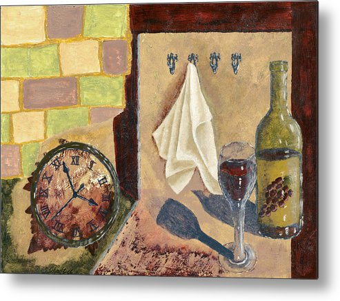 Acrylic Metal Print featuring the painting Kitchen Collage by Susan Schmitz