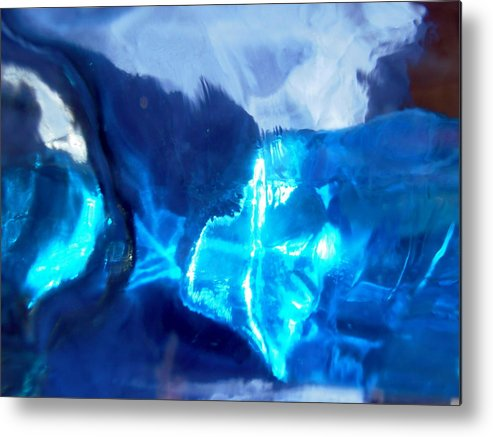 Blue Metal Print featuring the photograph Abstract 1419 by Stephanie Moore