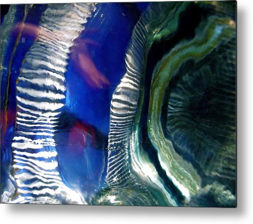 Blue Metal Print featuring the photograph Abstract 3060 by Stephanie Moore