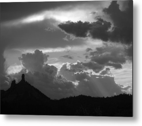 Chimney Rock Metal Print featuring the photograph After The Storm Chimney Rock by Amara Roberts