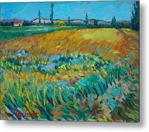 2012 Metal Print featuring the painting after Van Gogh 14 by Mariano Zucchi