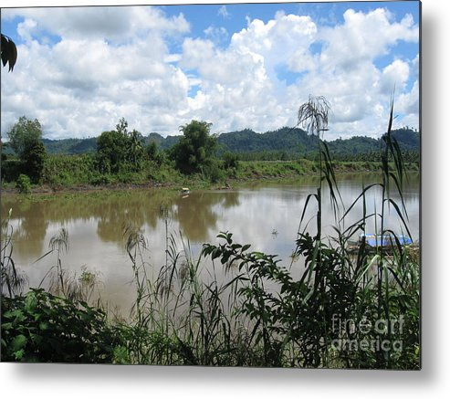 Landscape Metal Print featuring the photograph Agusan River by Roberto Prusso