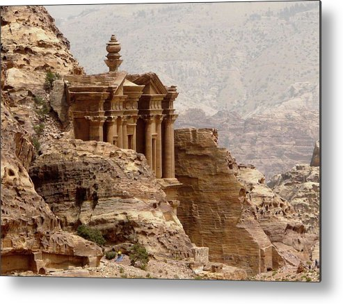 Horizontal Metal Print featuring the photograph Al-deir (monastery) by Cute Kitten Images