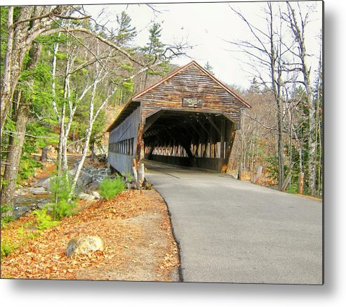 Nh Metal Print featuring the photograph Albany Covered Bridge by Wayne Toutaint