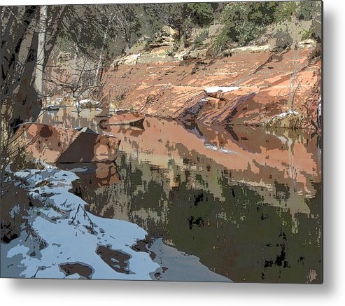 Sedona Metal Print featuring the photograph Along The Creek by Sandy Tracey