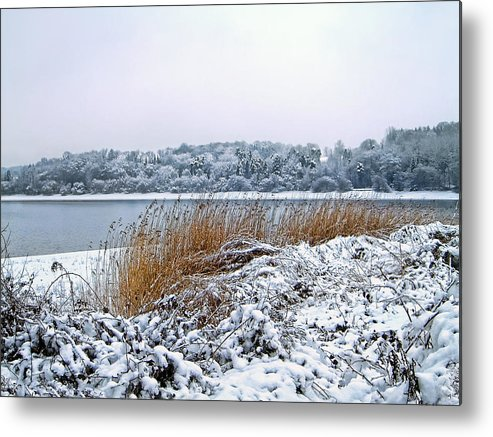 Snow Metal Print featuring the photograph Ardingly Reservoir - Winter Snowy Scene by Ollie Relfe