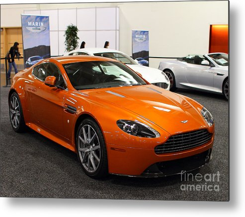Transportation Metal Print featuring the photograph Aston Martin Db9 . 7d9624 by Wingsdomain Art and Photography